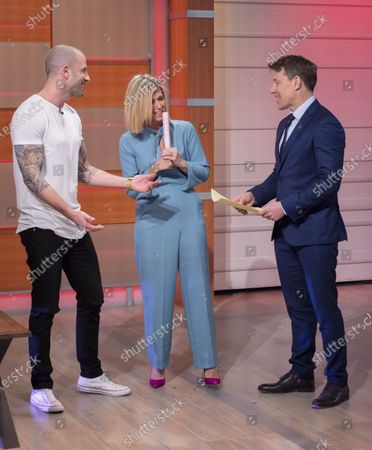 Ben Shephard and Kate Garraway with Darcy Oake
