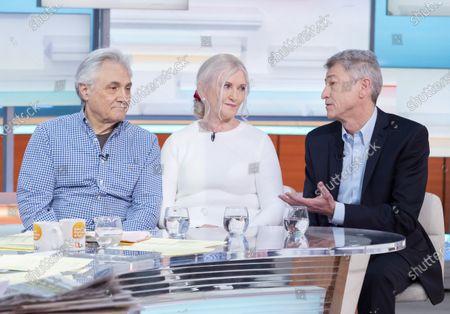 John Suchet with wife Nula Suchet and Professor Nick Fox