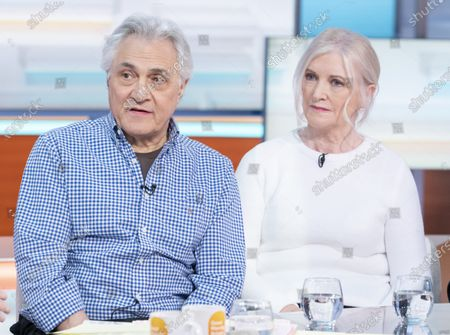 Stock Picture of John Suchet with wife Nula Suchet