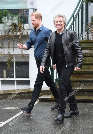 Prince Harry and Jon Bon Jovi