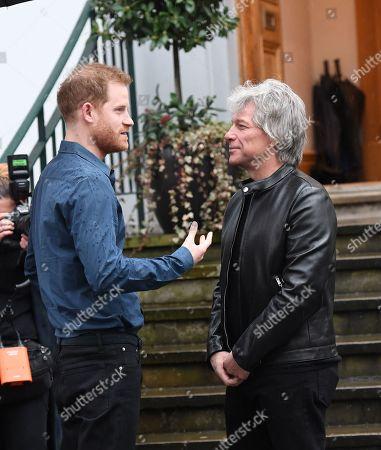 Stock Image of Prince Harry and Jon Bon Jovi