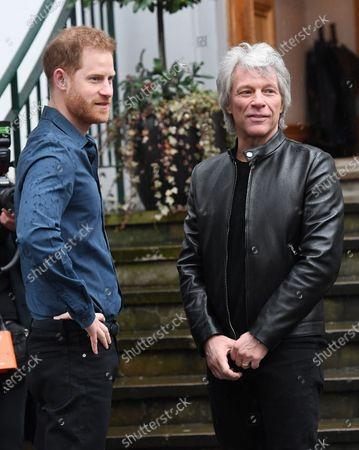 Stock Photo of Prince Harry and Jon Bon Jovi