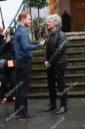 Stock Picture of Prince Harry and Jon Bon Jovi
