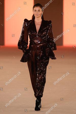 Editorial image of Balmain show, Runway, Fall Winter 2020, Paris Fashion Week, France - 28 Feb 2020