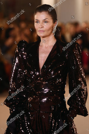 Stock Picture of Helena Christensen on the catwalk