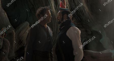 Robert Downey Jr. as Dr. John Dolittle and Michael Sheen as Dr. Blair Müdfly