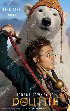 Dolittle (2020) Poster Art. Robert Downey Jr. as Dr. John Dolittle and Polar Bear Yoshi (John Cena)