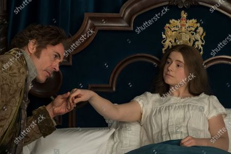Robert Downey Jr. as Dr. John Dolittle and Jessie Buckley as Queen Victoria