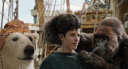 Polar Bear Yoshi (John Cena), Harry Collett as Tommy Stubbins and Gorilla Chee-Chee (Rami Malek)