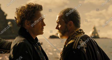 Robert Downey Jr. as Dr. John Dolittle and Antonio Banderas as King Rassouli