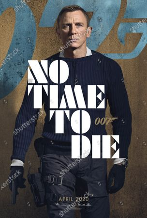 No Time to Die (2020) Poster Art. Daniel Craig as James Bond