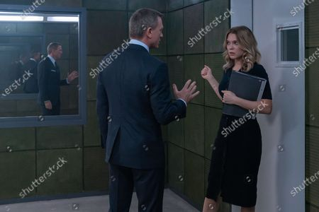 Stock Picture of Daniel Craig as James Bond and Lea Seydoux as Dr. Madeleine Swann
