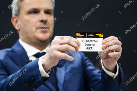 Editorial picture of UEFA Europa League 2019/20 Round of 16 draw, Nyon, Switzerland - 28 Feb 2020