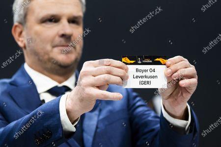Editorial image of UEFA Europa League 2019/20 Round of 16 draw, Nyon, Switzerland - 28 Feb 2020