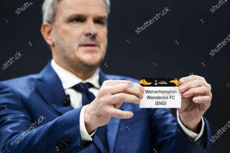 Editorial photo of UEFA Europa League 2019/20 Round of 16 draw, Nyon, Switzerland - 28 Feb 2020