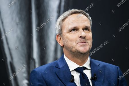 Stock Picture of German former soccer player Dietmar Hamann during the UEFA Europa League 2019/20 Round of 16 draw, at the UEFA Headquarters in Nyon, Switzerland, 28 February 2020.