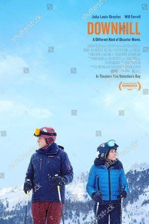 Downhill (2020) Poster Art. Will Ferrell as Pete and Julia Louis-Dreyfus as Billie