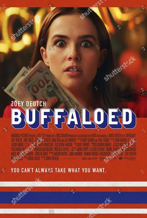 Stock Photo of Buffaloed (2019) Poster Art. Zoey Deutch as Peg
