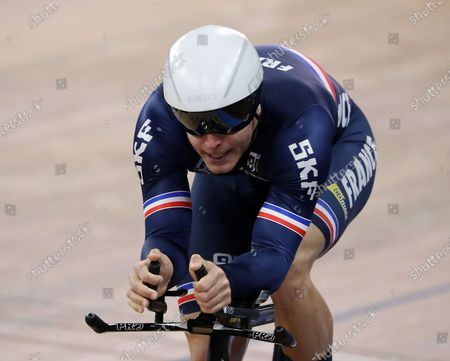 Stock Photo of Michael d'Almeida of France in action during the Men's 1 km Time Trial at the UCI Track Cycling World Championships at the Velodrom in Berlin, Germany, 28 February 2020.