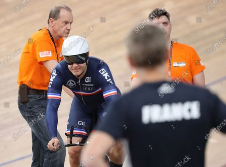 Stock Picture of Michael d'Almeida of France in action during the Men's 1 km Time Trial at the UCI Track Cycling World Championships at the Velodrom in Berlin, Germany, 28 February 2020.