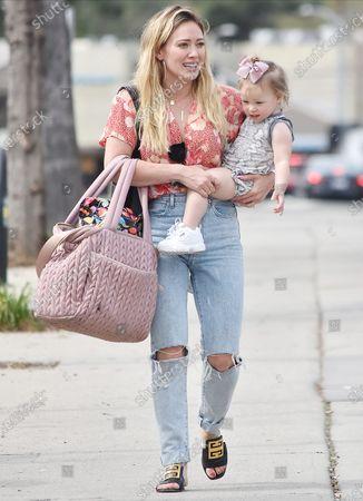 Hilary Duff and daughter Banks Violet Bair