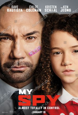 My Spy (2020) Poster Art. Dave Bautista as JJ and Chloe Coleman as Sophie