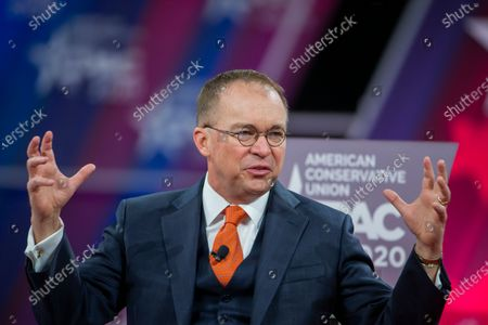 Acting White House Chief of Staff Mick Mulvaney speaks at the 47th annual Conservative Political Action Conference (CPAC) at the Gaylord National Resort & Convention Center in National Harbor, Maryland, USA, 28 February 2020. The American Conservative Union's CPAC continues through 29 February.
