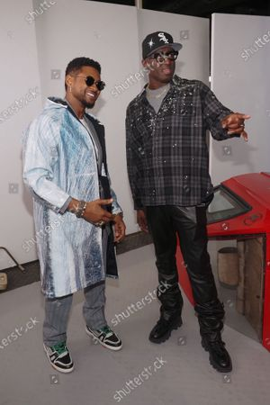 Usher and Virgil Abloh