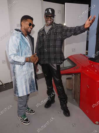 Stock Picture of Usher and Virgil Abloh