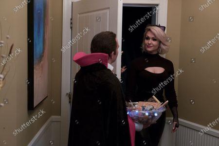 Stock Image of Geoff Gustafson as Scott and Jenn Lyon as Lisa Beasley