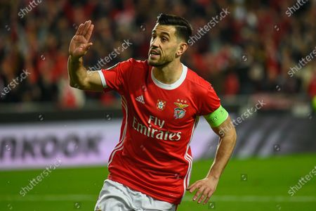 Luis Miguel Afonso 'Pizzi' of Benfica celebrates a goal