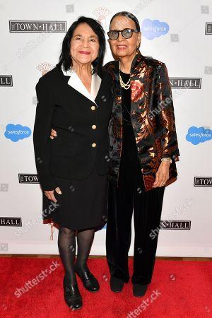 Dolores Huerta and Gail Lumet Buckley