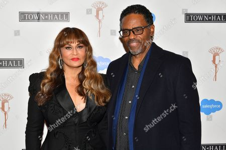 Stock Image of Tina Knowles and Richard Lawson