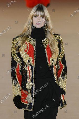 Stock Photo of Julia Stegner on the catwalk