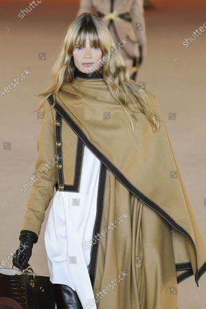 Julia Stegner on the catwalk