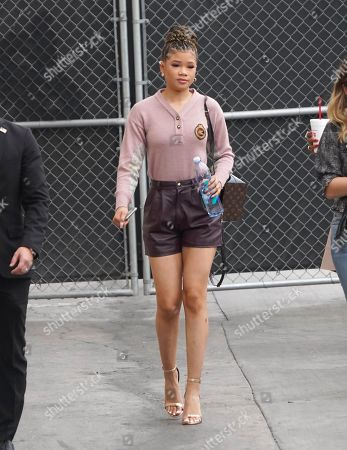 Editorial photo of Storm Reid out and about, Los Angeles, USA - 27 Feb 2020