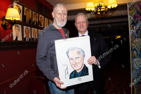 Editorial image of James Cromwell receives Portrait at Sardi's, New York, USA - 27 Feb 2020