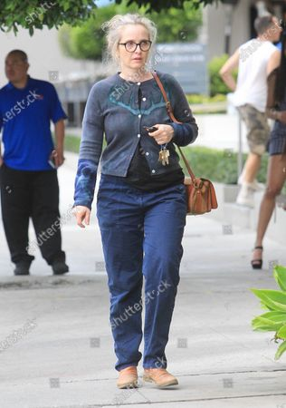 Editorial image of Julie Delby out and about, Los Angeles, USA - 27 Feb 2020