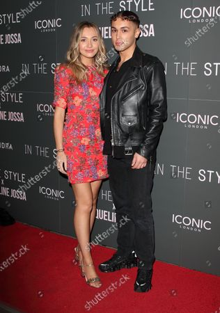 Tilly Keeper and Shaheen Jafargholi attend the In The Style x Jacqueline Jossa's Launch Party at the Tape London, Hanover Square