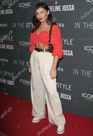 Francesca Allen attends the In The Style x Jacqueline Jossa's Launch Party at the Tape London, Hanover Square