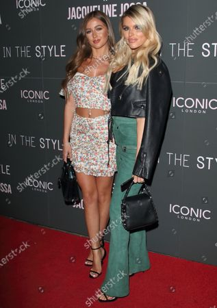 Georgia Steel and Hayley Hughes attend the In The Style x Jacqueline Jossa's Launch Party at the Tape London, Hanover Square
