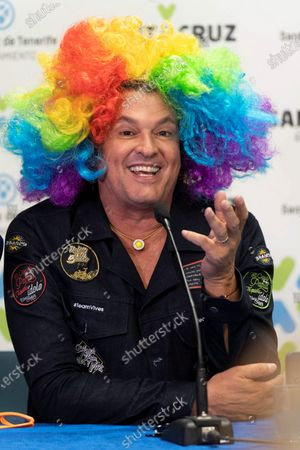 Carlos Vives attends a presser on occasion of his participation in the Santa Cruz de Tenerife carnival in Canary Islands, Spain, 28 February 2020.