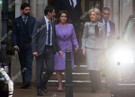 Princess Haya of Jordan bint Hussein leaving the Court of Appeal with Baroness Fiona Shackleton following today's hearing.