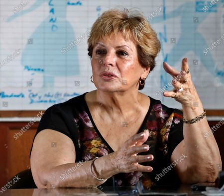 The director of the ballet company ProDanza and daughter of the late dancer Alicia Alonso, Laura Alonso, speaks with Efe during an interview about the assembly 'Romeo and Juliet' Ballet, in Havana, Cuba, 25 February 2020 (issued 28 February 2020). The Romeo and Juliet performance was rehearsed initialy separately in Cleveland and Havana. The performances begin this Friday at the National Theater of Cuba and will end next Sunday.