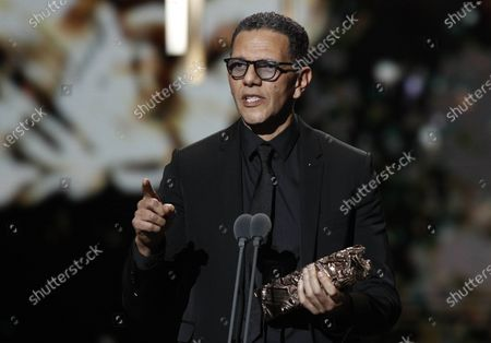 Roschdy Zem receives the best Actor award for 'Roubaix, une lumiere' during the 45th annual Cesar awards ceremony held at the Salle Pleyel concert hall in Paris, France, 28 February 2020.