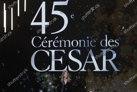 Sandrine Kiberlain attends the 45th annual Cesar awards ceremony held at the Salle Pleyel concert hall in Paris, France, 28 February 2020.