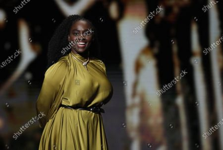 Aissa Maiga attends the 45th annual Cesar awards ceremony held at the Salle Pleyel concert hall in Paris, France, 28 February 2020.