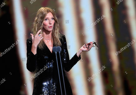 Sandrine Kiberlain, the President of the Cesar award ceremony speaks as it opens in Paris. The Cesar awards are the French equivalent of the Oscars