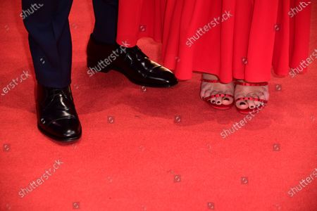 Omar Sy (L) and Virginie Efira arrive for the premiere of 'Police' (Night Shift) during the 70th annual Berlin International Film Festival (Berlinale), in Berlin, Germany, 28 February 2020. The movie is presented in the Berlinale Special section at the Berlinale that runs from 20 February to 01 March 2020.