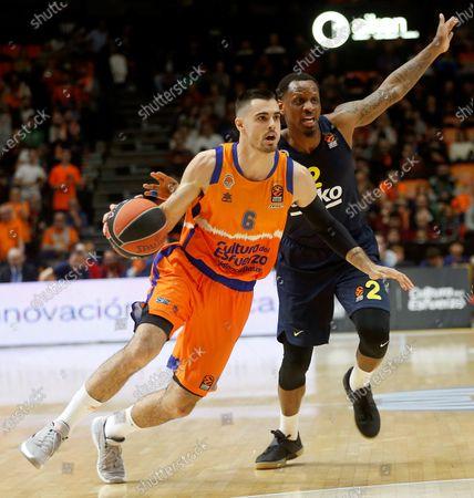 Editorial image of Valencia Basket vs Fenerbahce, Spain - 28 Feb 2020